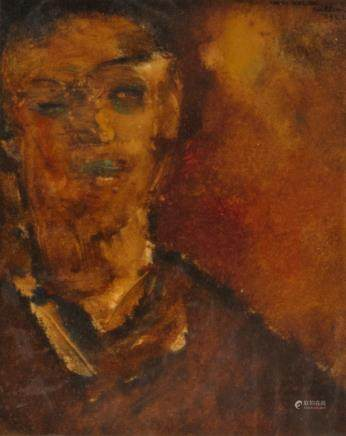 Van Hecke W., a portrait of a boy, oil on paper, dated 1942, 29 x 33 cm