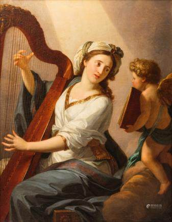 Taillasson, the love song, oil on canvas, dated 1788, 90 x 117 cm