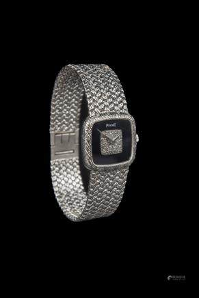 Piaget 18K White Gold Diamond Dial Dress Watch, Ladies