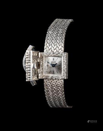 Piaget Lady's White Gold and diamond-set square bracelet watched with concealed dial