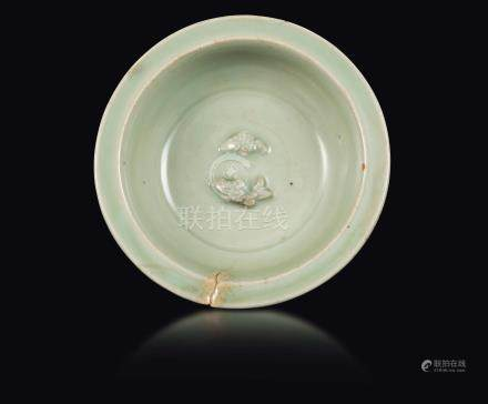 A Celadon twin fish dish, Song Dynasty (960-1279)