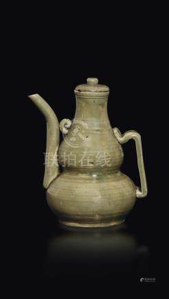 A Celadon glazed teapot, China, Song Dynasty (960-1279)