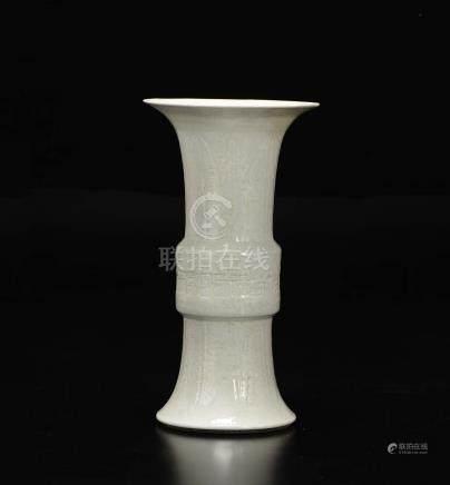 A Blanc de Chine vase, China, Qing Dynasty, 19th c ...