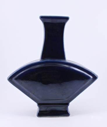 Qing Blue Glaze Porcelain Vase Qian Long Vase
