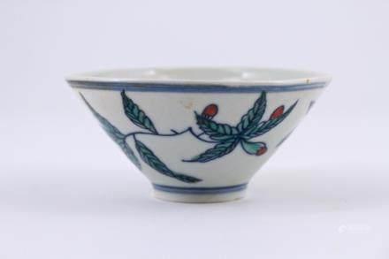 Ming Dou cai Porcelain Bowl Chenghua Mark