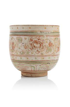 Chine, XVIIe siècle Coupe en terre cuite émaillée de type Swatow
