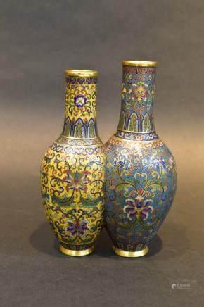 A  Cloisonne Double Vase