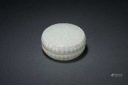 A Hutian Ware Celadon Box