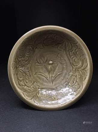 A Yaozhou Ware Carve Bowl