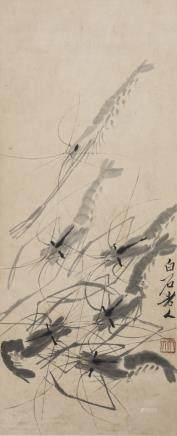QI BAISHI (1863-1957), SHRIMPS