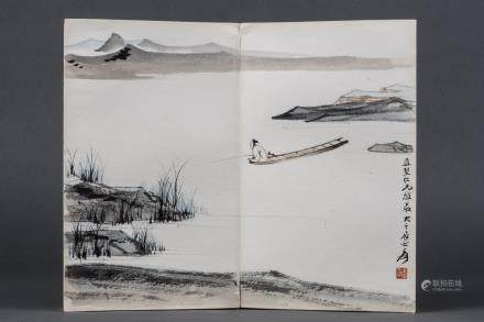 ZHANG DAQIAN (1899-1983), QIAN XUANTONG (1887-1939), WANG JIWAN (1906-2003), AN ALBUM OF PAINTING AND CALLIGRAPHY