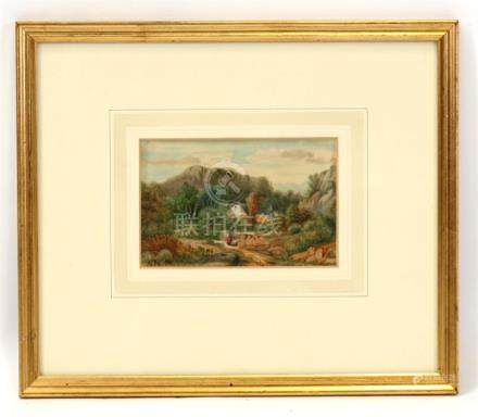 Attributed to Abraham Hermanjat (1862-1932) - Austrian Landscape View - initialled lower left,