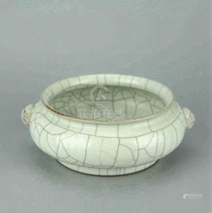 Chinese Crackle Celadon Glaze Porcelain Censer