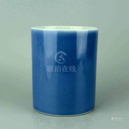 Chinese Cobalt Glazed Porcelain Brush Pot