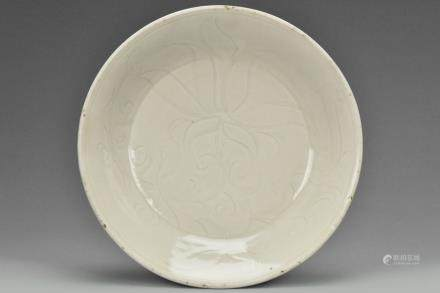 A SONG DYNASTY CARVED DINGYAO DISH