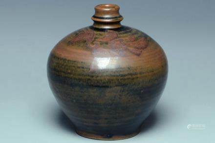A SONG DYNASTY HENAN SPLASHED BLACK GLAZED JAR
