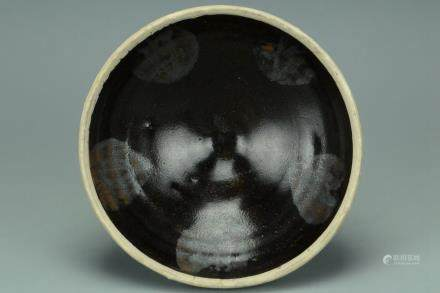 A HENAN SPLASHED BLACK GLAZED BOWL