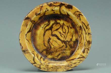 A SONG DYNASTY MARBLE GLAZED DISH
