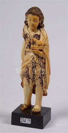 """""""Enfant Jésus debout"""" en ivoire de Goa. Travail indo-portuga"""