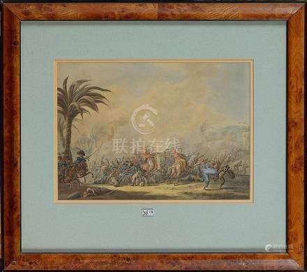 """LANGENDYK Jan Anthonie (1780 - 1818) - """"Bataille de Napoléon"""