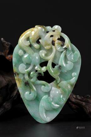 CHINESE REPUBLIC PERIOD JADEITE PENDANT