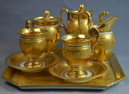 Early European Porcelain 6 Pieces Coffee Set