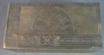 Russian Silver Cigar Box with Inscription