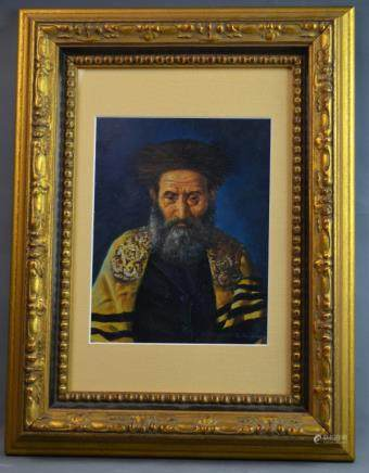Oil on Copper Painting of Rabby Signed K. Hoffman