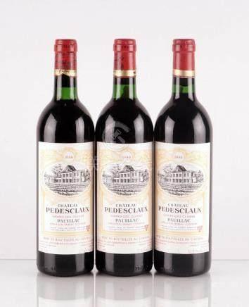 Château Pedesclaux 1986 - 3 bouteilles