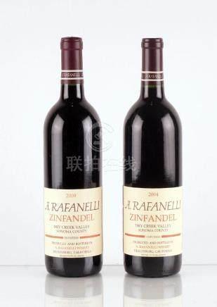 A. Rafanelli Zinfandel 2000 & 2004 - 2 bouteilles
