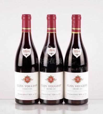 Clos Vougeot Grand Cru 1964, Remoissonet - 3 bouteilles