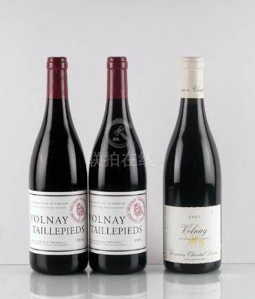 Volnay 2002, Lescure & Volnay 1er Cru Taillepieds 2005,