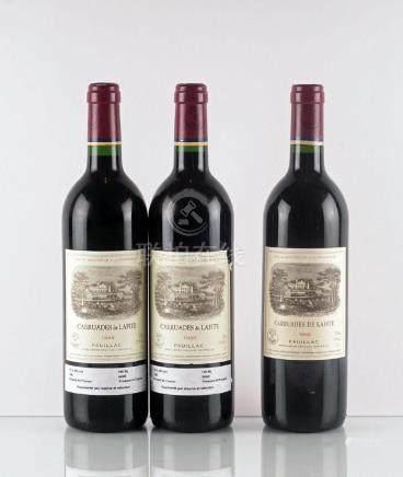 Carruades de Lafite 1992 & 1998 - 3 bouteilles