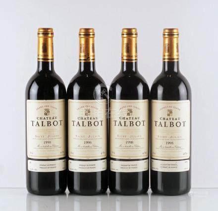 Château Talbot 1998 - 4 bouteilles
