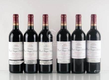 Château Haut Bages Libéral 1998 & 2001 - 6 bouteilles