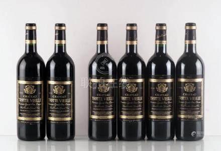 Château Trotte Vieille 1998 & 2001 - 6 bouteilles