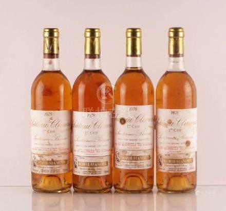 Château Climens 1978 - 4 bouteilles