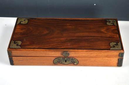 Antique Chinese Hardwood Writing Box
