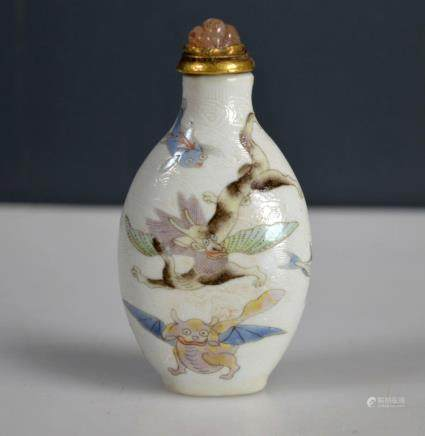 18/19 C Chinese Magic Animal Porcelain Snuff