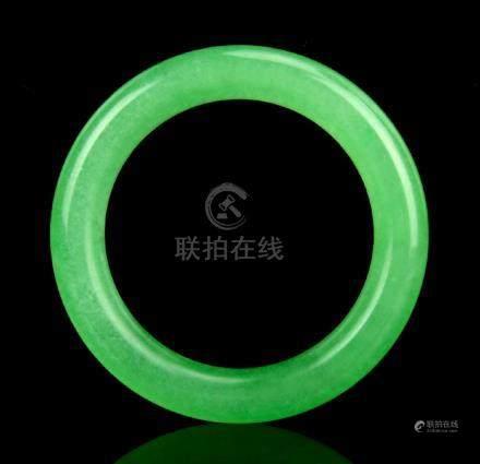 Emerald Green Jadeite Bangle
