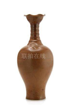 Persimmon Glazed Ting Baluster Vase