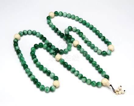 Jadeite Prayer Beads Necklace