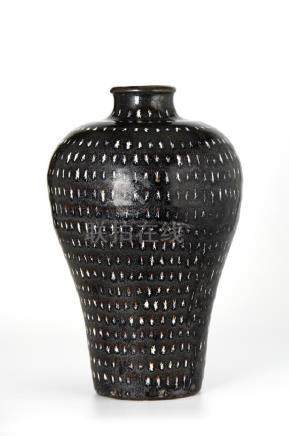 Chinese Ji-Chou Spotted Meiping Vase