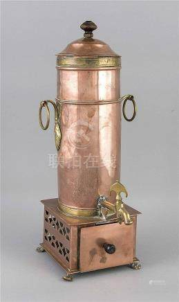 Kaffeebereiter, 2. H. 19. Jh., Kupfer und Messing, quadratis
