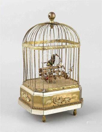 Singvogelautomat in Form eines Vogelkäfigs, 1. H. 20. Jh., M