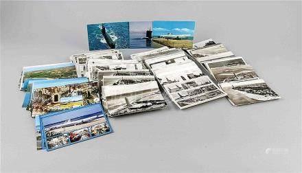 Konvolut von ca. 600 Ansichts- u. Postkarten, U-Boote u. Sch