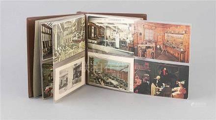 Zwei Sammelalben mit 152 Ansichtskarten, 1. H. 20. Jh., Ansi