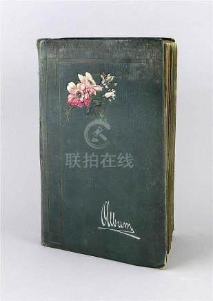 Sammelalbum mit 378 Ansichts- & Glückwunschkarten, 1. H. 20.