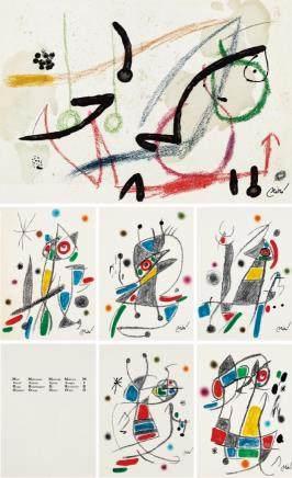 胡安·米羅-抽象(二十件一組)