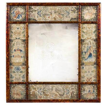 Charles II Needlework Dressing Mirror Third quarter of the 1